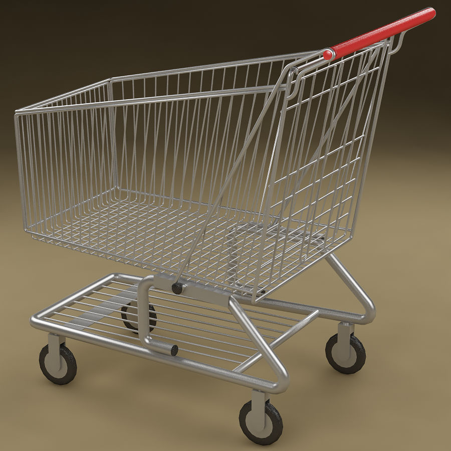 Shopping cart_01 royalty-free 3d model - Preview no. 3