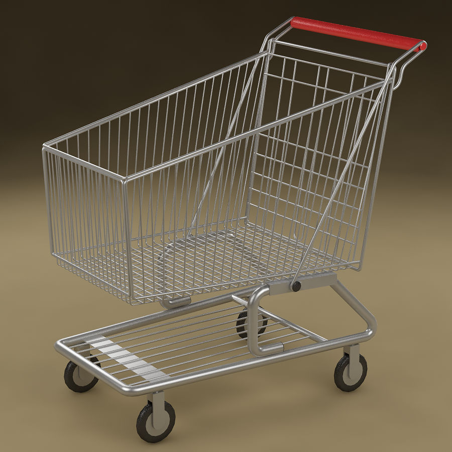 Shopping cart_01 royalty-free 3d model - Preview no. 1