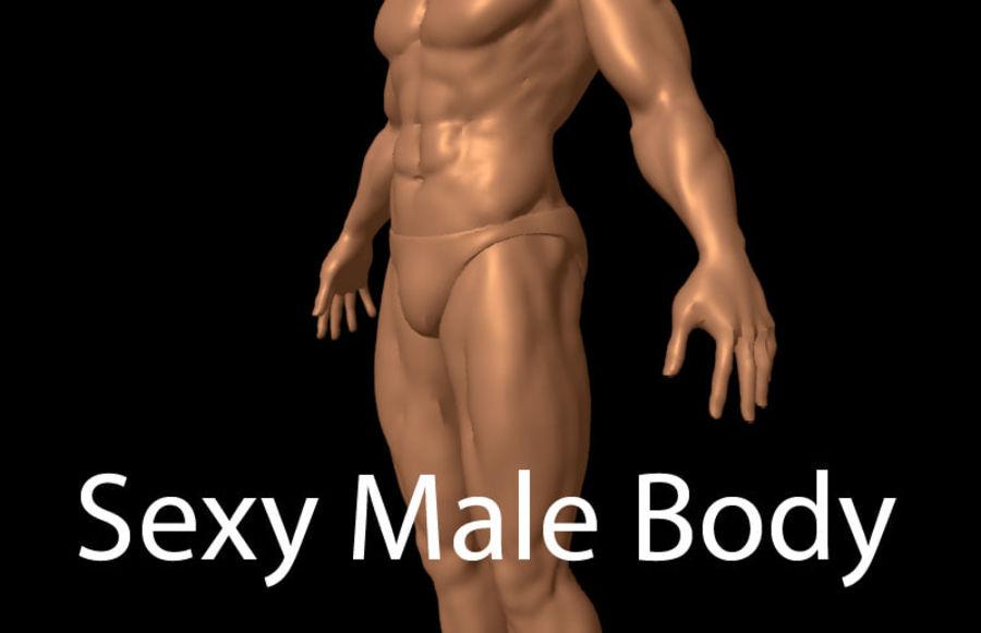 Corpo masculino sexy - anatomia humana masculina royalty-free 3d model - Preview no. 1