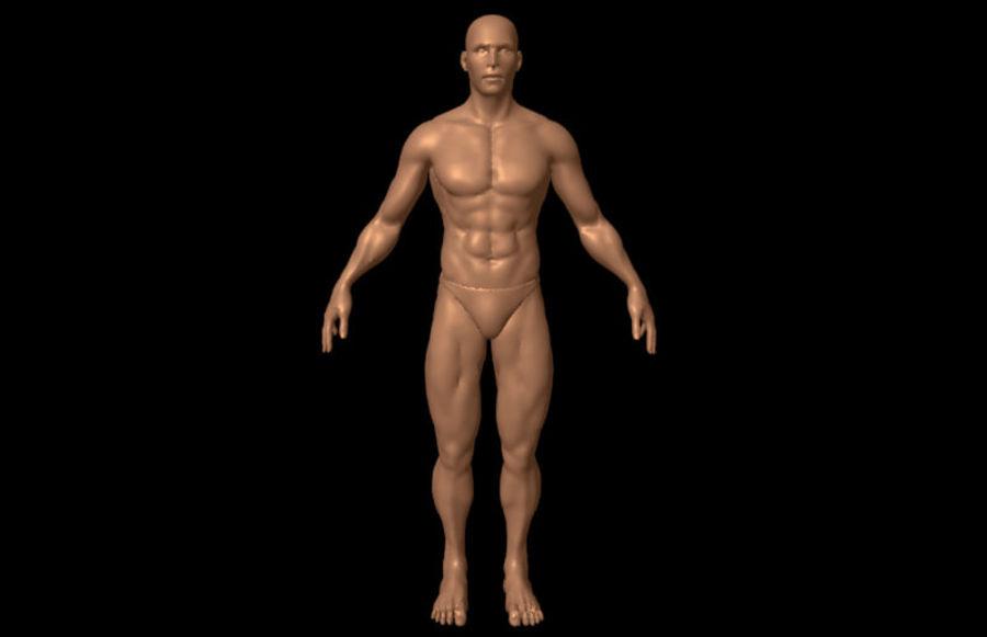 Corpo masculino sexy - anatomia humana masculina royalty-free 3d model - Preview no. 2
