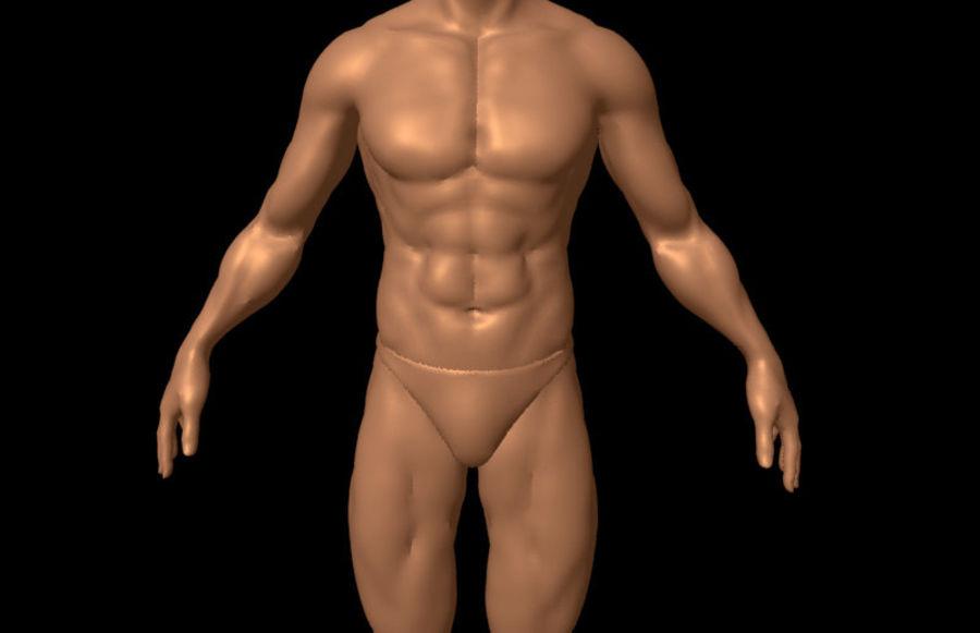 Corpo masculino sexy - anatomia humana masculina royalty-free 3d model - Preview no. 5