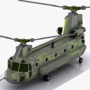 Hélicoptère de transport de bande dessinée 3d model