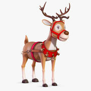 Cartoon Deer No Rig 3d model