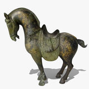 Horse Statuette (Q) 3d model