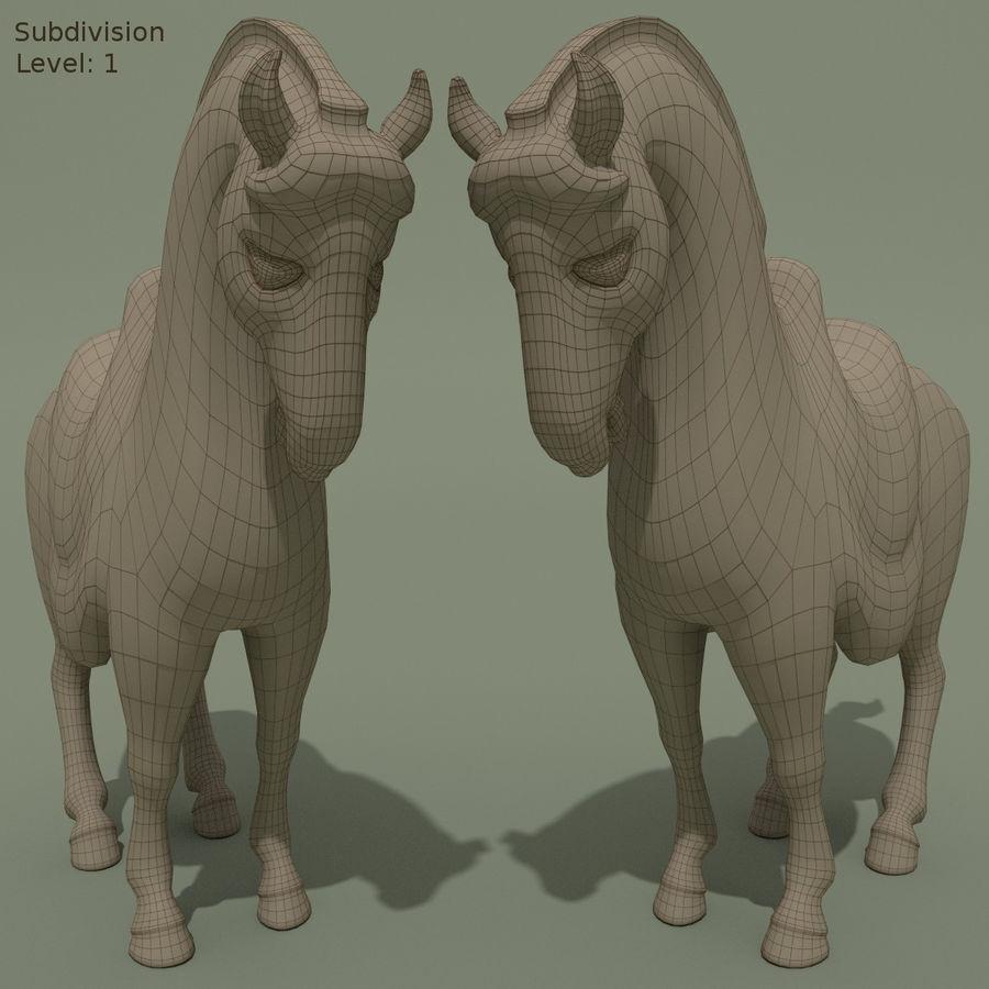 Horse Statuette (Q) royalty-free 3d model - Preview no. 9