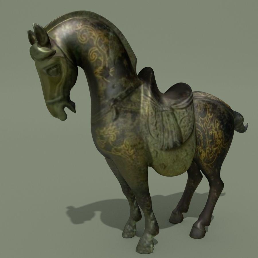 Horse Statuette (Q) royalty-free 3d model - Preview no. 5