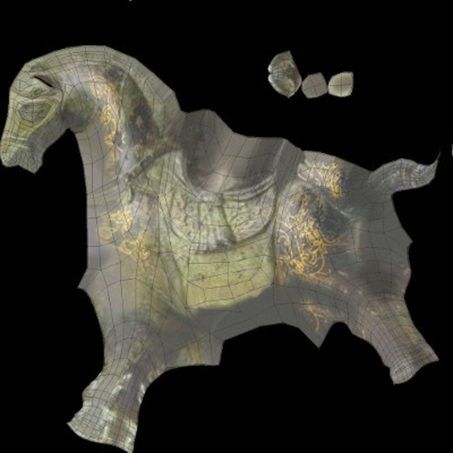 Horse Statuette (Q) royalty-free 3d model - Preview no. 14