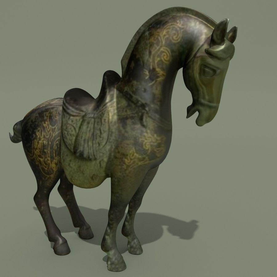 Horse Statuette (Q) royalty-free 3d model - Preview no. 6