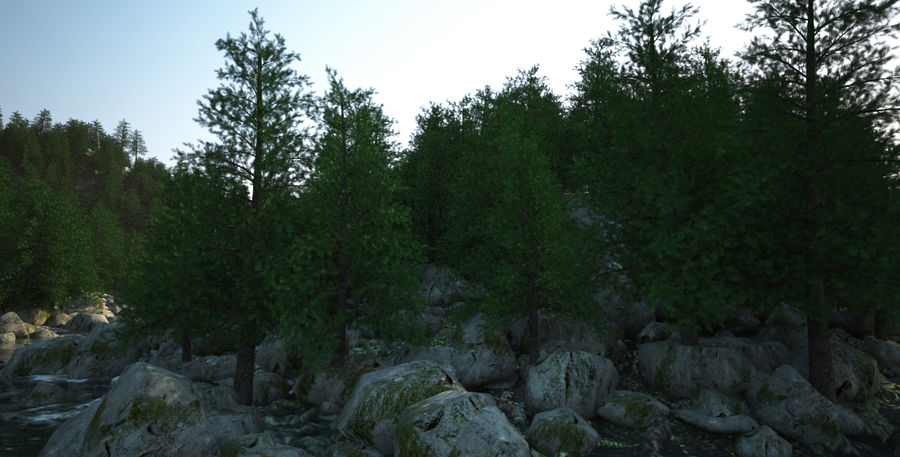 Berglandschap royalty-free 3d model - Preview no. 6