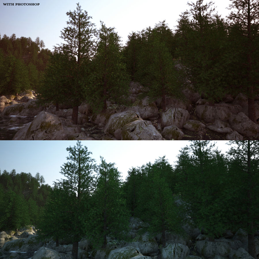 Berglandschap royalty-free 3d model - Preview no. 4