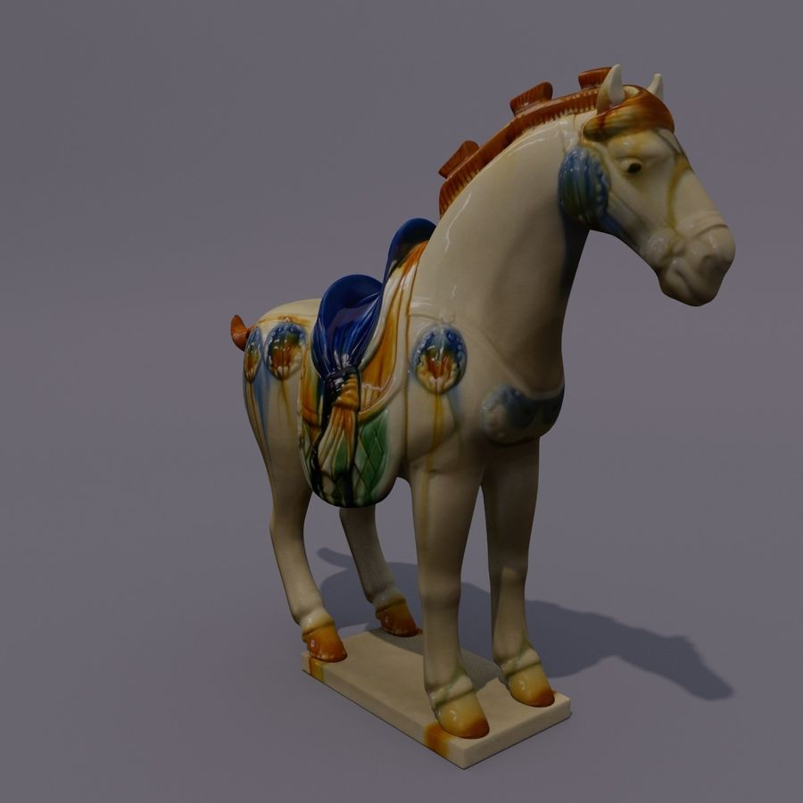 Horse Statuette (Z) royalty-free 3d model - Preview no. 4