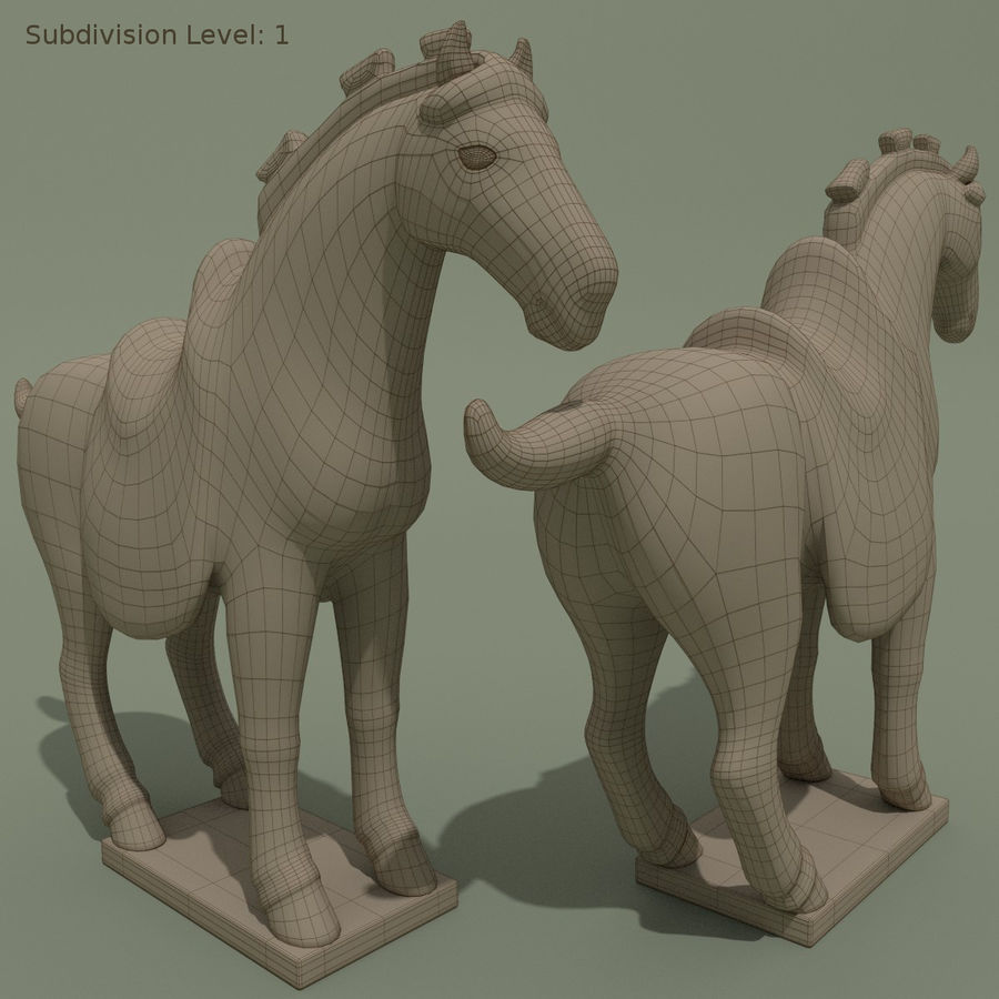 Horse Statuette (Z) royalty-free 3d model - Preview no. 10
