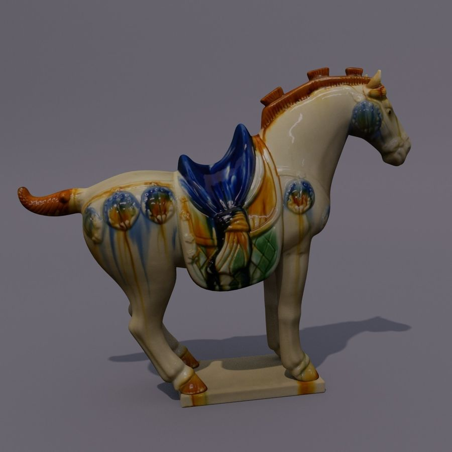 Horse Statuette (Z) royalty-free 3d model - Preview no. 5