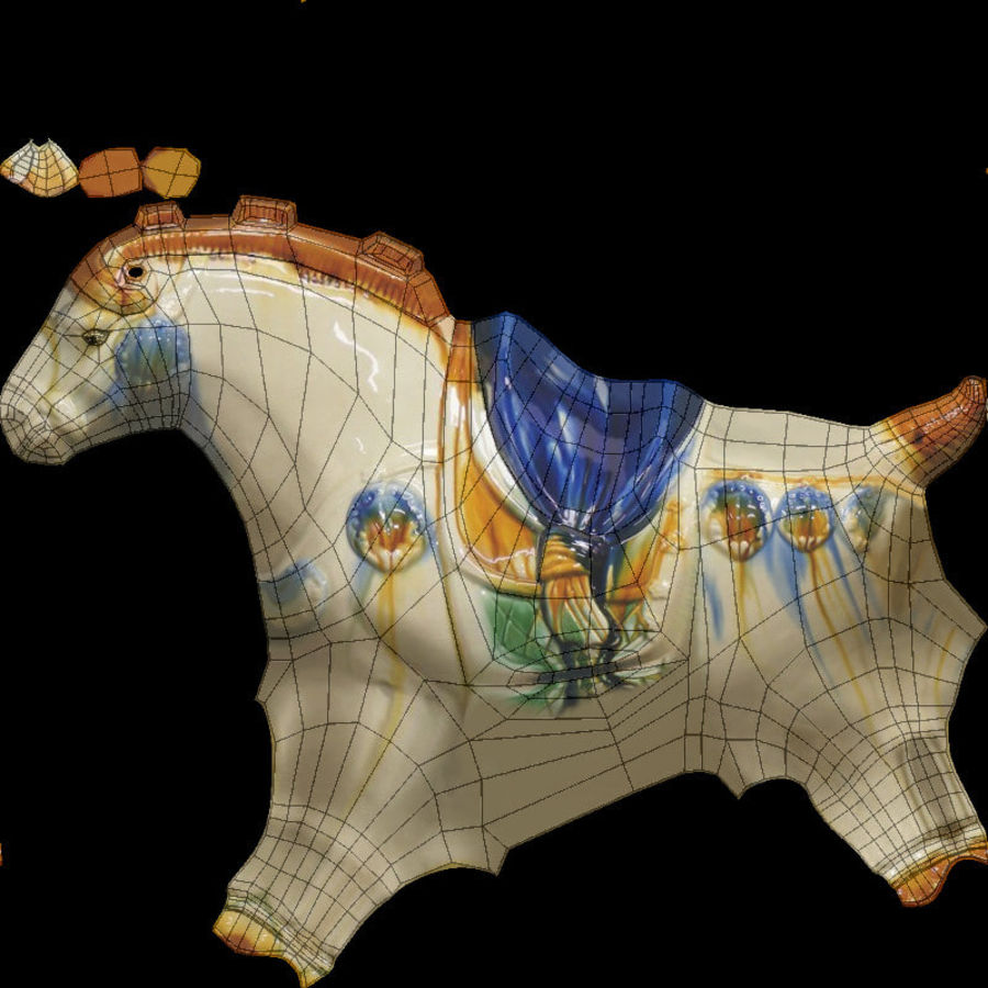 Horse Statuette (Z) royalty-free 3d model - Preview no. 11