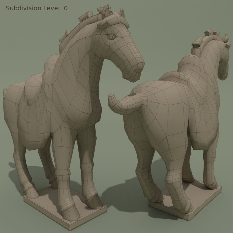 Horse Statuette (Z) royalty-free 3d model - Preview no. 9