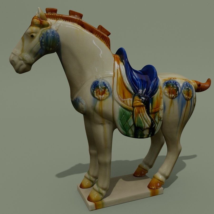 Horse Statuette (Z) royalty-free 3d model - Preview no. 2