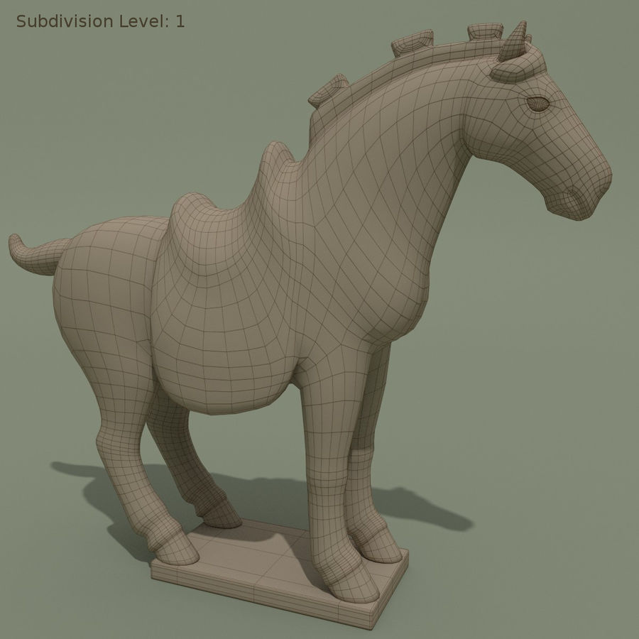 Horse Statuette (Z) royalty-free 3d model - Preview no. 8