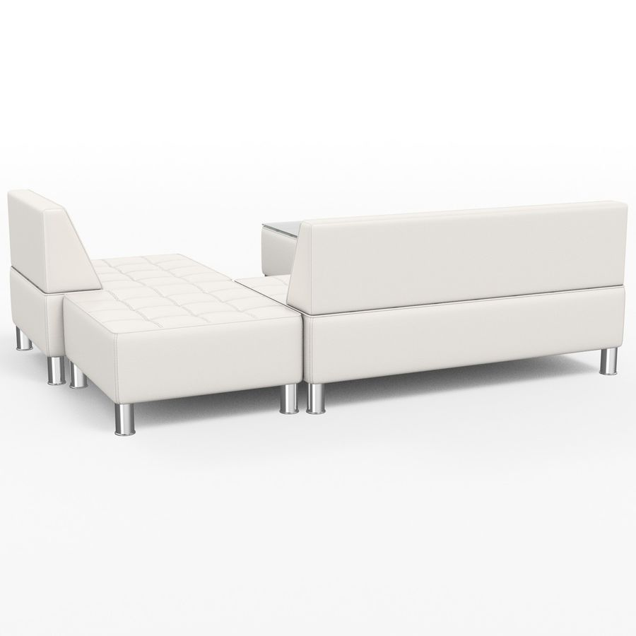 Modular leather sofa royalty-free 3d model - Preview no. 2