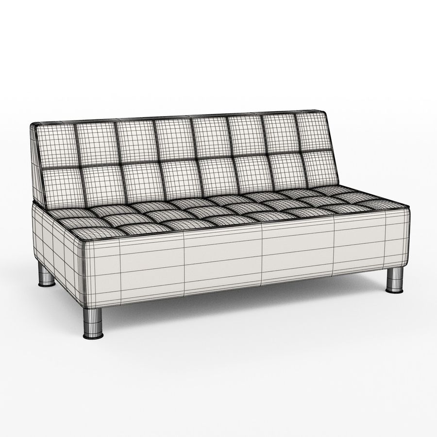 Modular leather sofa royalty-free 3d model - Preview no. 6