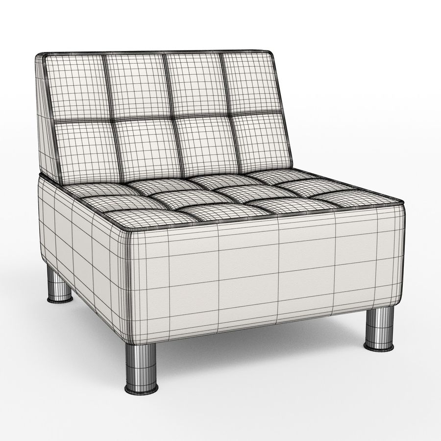 Modular leather sofa royalty-free 3d model - Preview no. 9