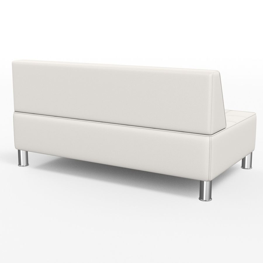 Modular leather sofa royalty-free 3d model - Preview no. 5