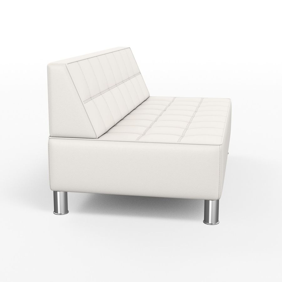 Modular leather sofa royalty-free 3d model - Preview no. 4
