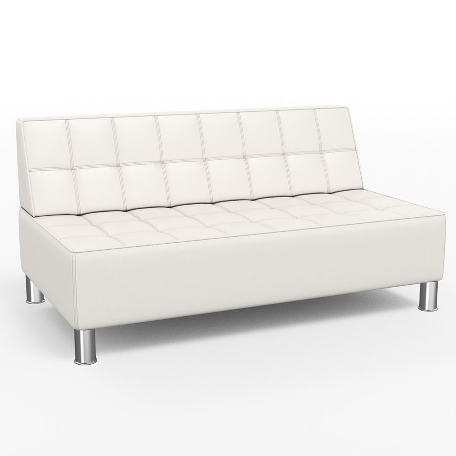 Modular leather sofa royalty-free 3d model - Preview no. 3