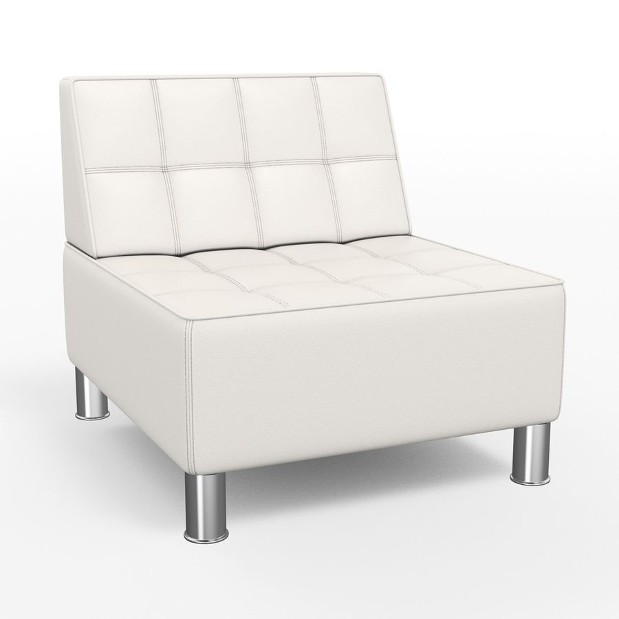 Modular leather sofa royalty-free 3d model - Preview no. 7