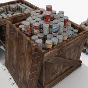 Warehouse Goods Crates Houten collectie 3d model