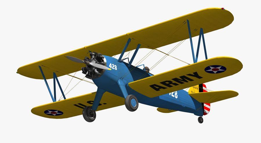 Boeing-Stearman (Model 75) royalty-free 3d model - Preview no. 9