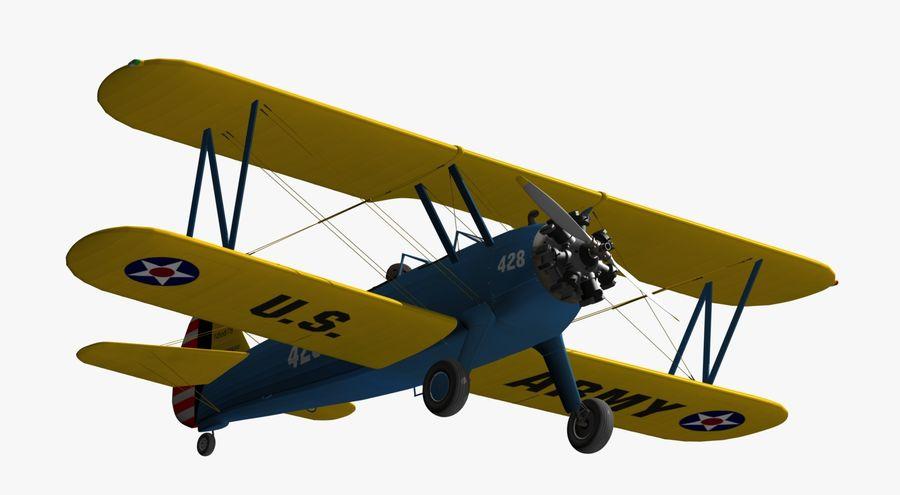 Boeing-Stearman (Model 75) royalty-free 3d model - Preview no. 12