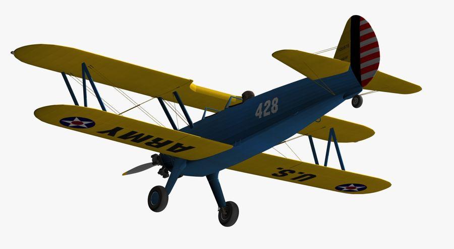 Boeing-Stearman (Model 75) royalty-free 3d model - Preview no. 11