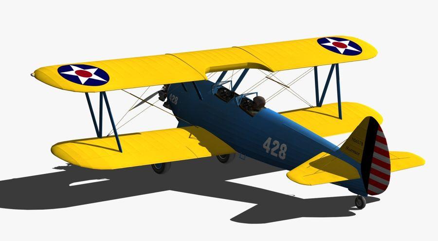 Boeing-Stearman (Model 75) royalty-free 3d model - Preview no. 7