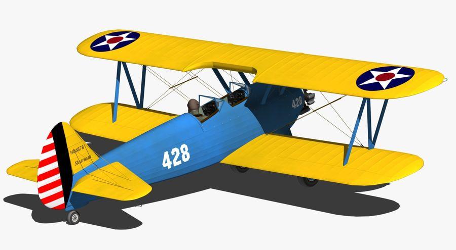 Boeing-Stearman (Model 75) royalty-free 3d model - Preview no. 6