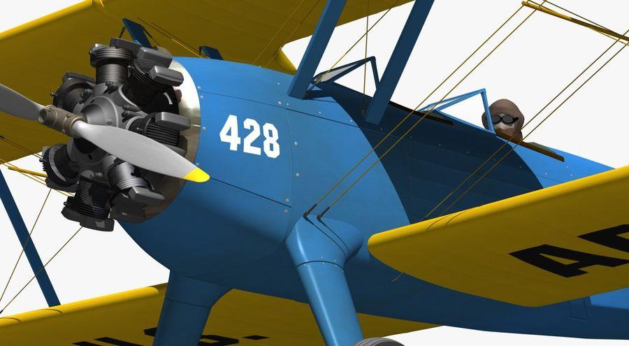 Boeing-Stearman (Model 75) royalty-free 3d model - Preview no. 13