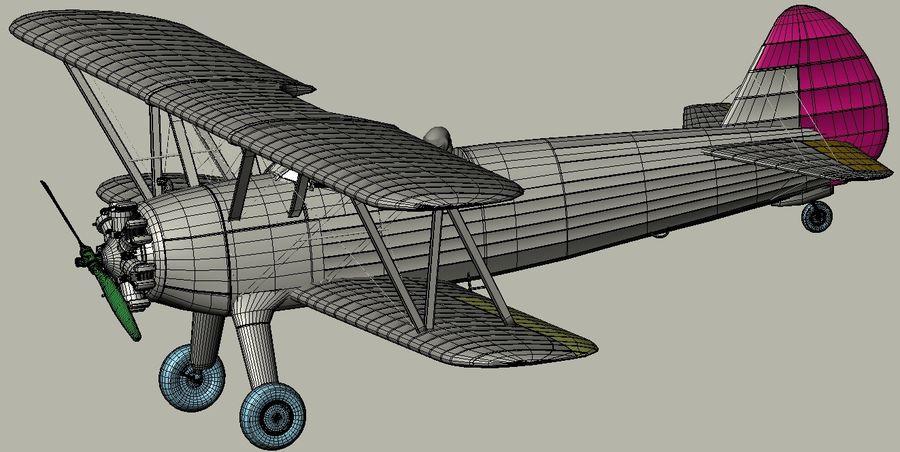 Boeing-Stearman (Model 75) royalty-free 3d model - Preview no. 15