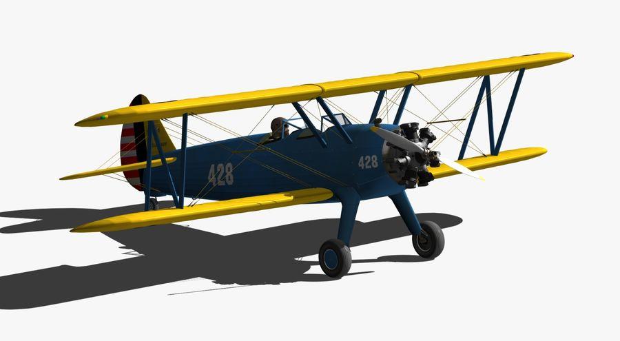 Boeing-Stearman (Model 75) royalty-free 3d model - Preview no. 8