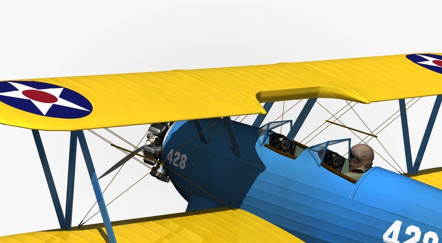 Boeing-Stearman (Model 75) royalty-free 3d model - Preview no. 4