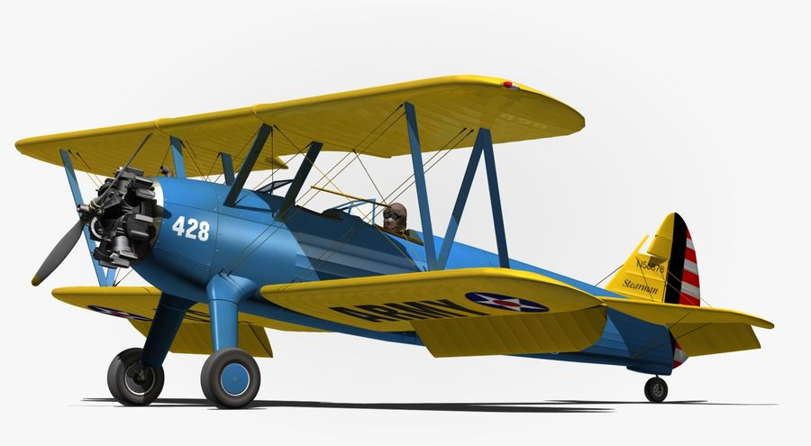 Boeing-Stearman (Model 75) 3D Model $43 -  obj  max  fbx  blend - Free3D