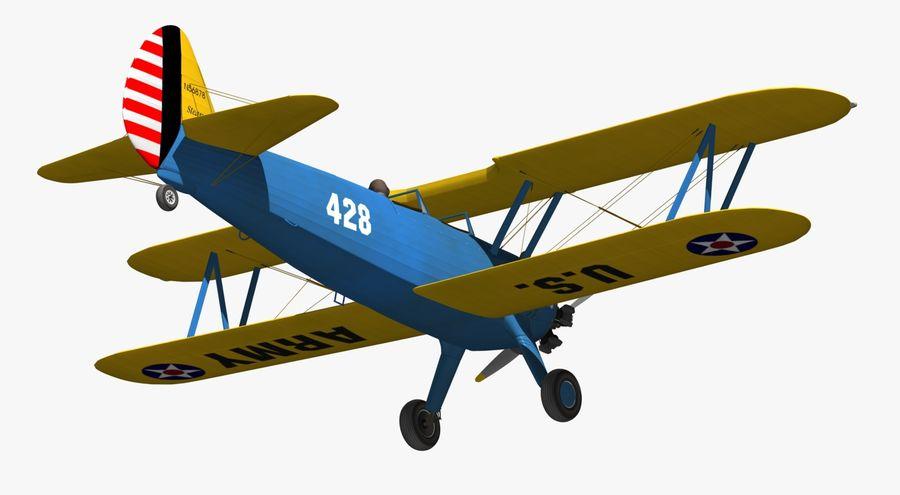 Boeing-Stearman (Model 75) royalty-free 3d model - Preview no. 10