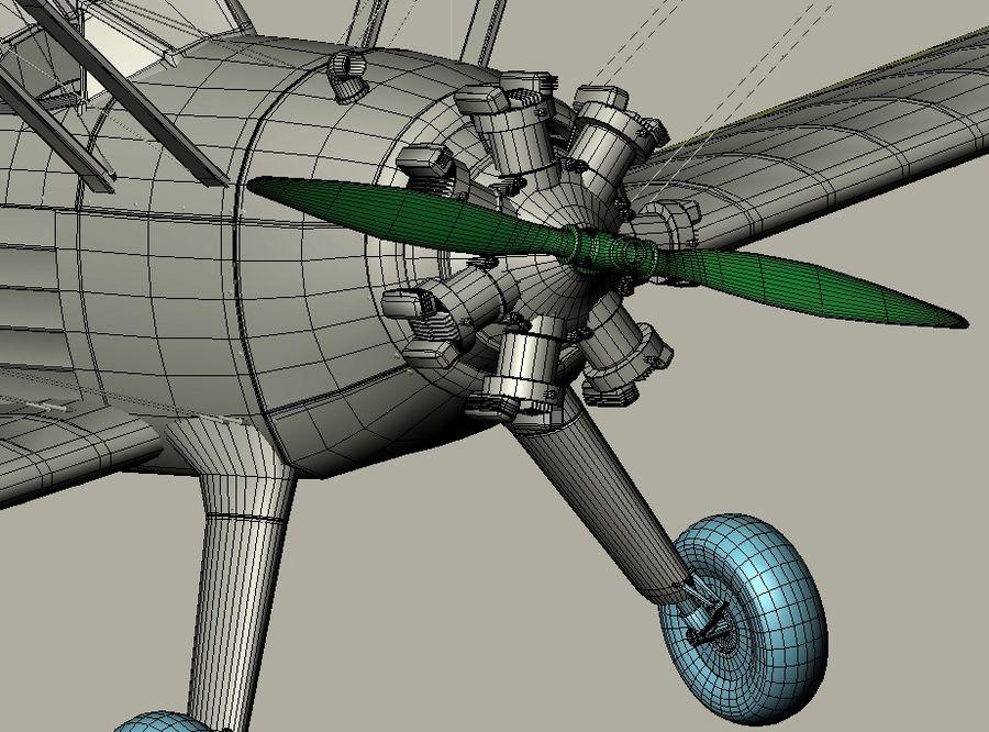 Boeing-Stearman (Model 75) royalty-free 3d model - Preview no. 17