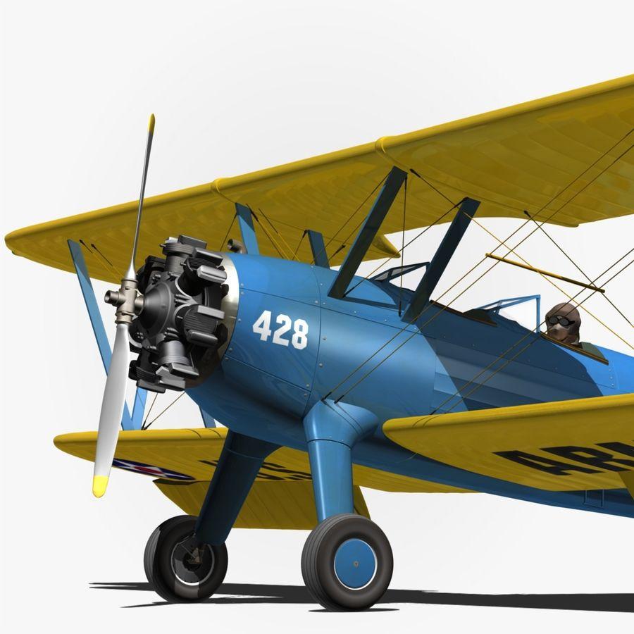 Boeing-Stearman (Model 75) royalty-free 3d model - Preview no. 2