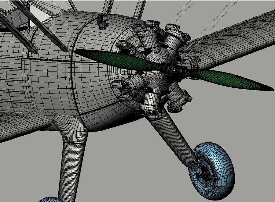 Boeing-Stearman (Model 75) royalty-free 3d model - Preview no. 18