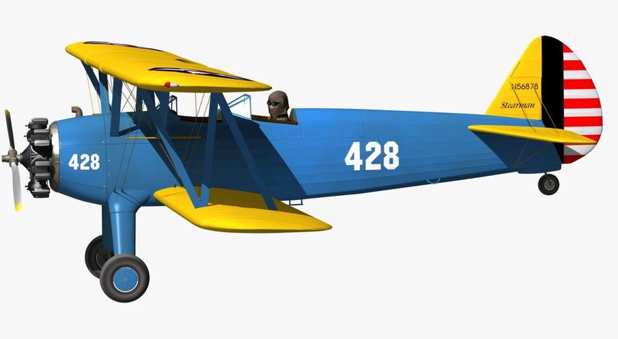 Boeing-Stearman (Model 75) royalty-free 3d model - Preview no. 14