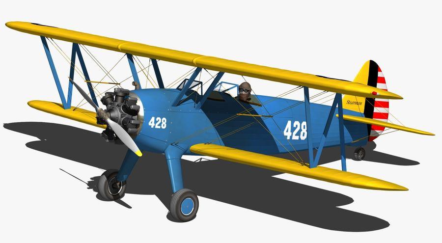 Boeing-Stearman (Model 75) royalty-free 3d model - Preview no. 5