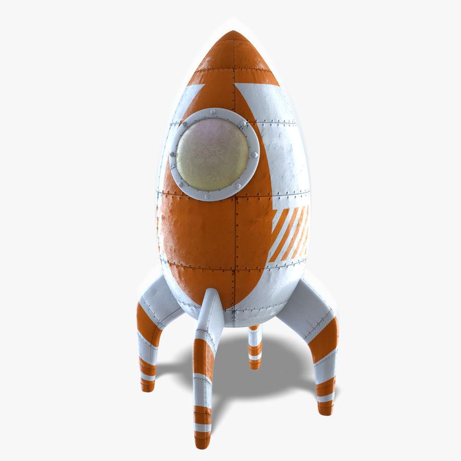 Retro Rocket royalty-free 3d model - Preview no. 5