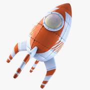 Retro roket 3d model