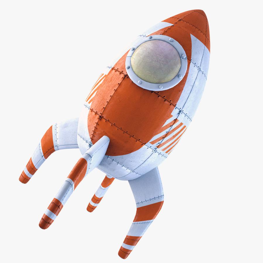 Retro Rocket royalty-free 3d model - Preview no. 1