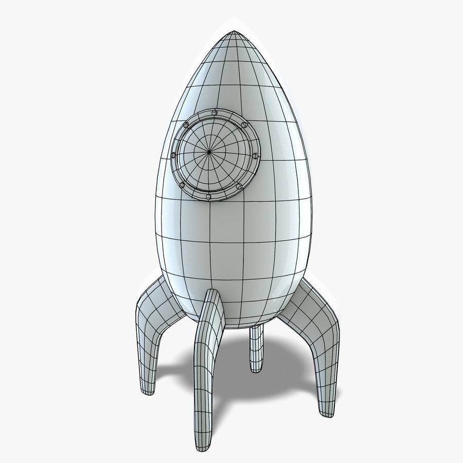 Retro Rocket royalty-free 3d model - Preview no. 6