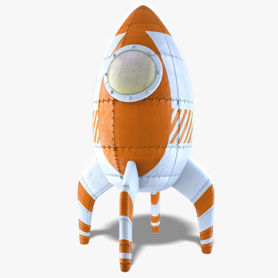 Retro Rocket royalty-free 3d model - Preview no. 3